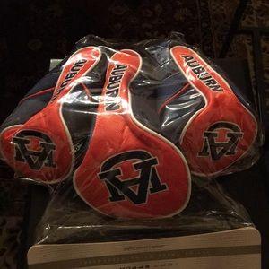 Auburn team golf head covers. NEW